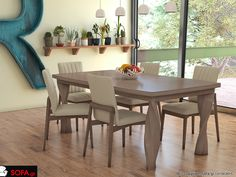 Τραπεζαρία μασίφ Twist Plus Dinning, Decor, Furniture, Sofa, Table, Dinning Table, Home, Home Decor