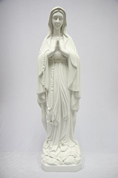 Outdoor Statues Large Size  38 1/2 Large Our Lady of Lourdes Blessed Virgin Mary Catholic Statue Sculpture Figure Vittoria Made in Italy Indoor Outdoor Garden Porch Makeover <3 This is an Amazon Associate's Pin. Find out more from the website by clicking the VISIT button.