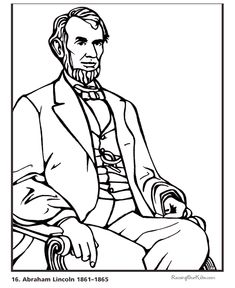 Free Printable President Abraham Lincoln Biography And Coloring Picture