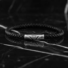 Our premium men's single black leather bracelet features Italian full-grain leather and a quick release stainless-steel magnetic closure. Black Leather Bracelet, Pink Leather, Leather Men, Leather Bracelets, Leather Jackets, Briefcase For Men, Leather Briefcase, Bracelets For Men, Black Silver