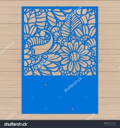 Die Cut Card. Laser Cut Vector Panel. Cutout Silhouette With Botanical Pattern. Filigree Leaves For Paper Cutting. - 528758869 : Shutterstock