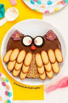 The owl, owl - Food For My Little One. Crazy Cakes, Owl Food, Cake Decorating Supplies, Cake Icing, Food Humor, Cute Cakes, Cute Food, Cake Art, Beautiful Cakes