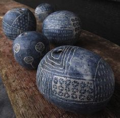 Yo Thom - lovely work that reminds me of indigo-died textiles