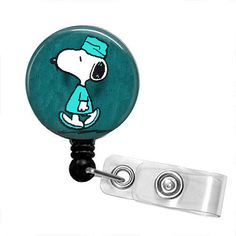 SNOOPY IN SCRUBS Retractable Badge Reel by PerfectlyPreppy on Etsy (Accessories, Keychains & Lanyards, Lanyards & Badge Holders, badge reel holder, key fob chain, nurse clip on belt, national nurses week, lanyard party favor, id name tag snoopy, woodstock peanuts, charlie brown funny, bird dog black and, small gift preppy, surgeon nurse, office doctor scrubs, humor cartoon blue)