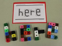Sight Words in 3 Steps! Not sure what to do with snap cubes? Turn them into sight words! Check out other tips for teaching sight words at Simply Kinder! Differentiated Kindergarten, Kindergarten Language Arts, Teaching Kindergarten, Teaching Ideas, Kindergarten Centers, Kindergarten Literacy, Student Teaching, Teaching Sight Words, Sight Word Practice