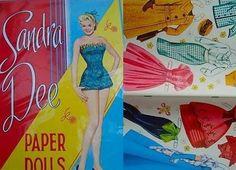 Sandra Dee paper doll kit