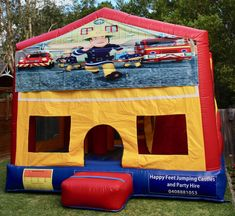 We offer free delivery within a radius of Cooroy & provide quality jumping castles to Gympie Council and Sunshine Coast Council residents. Fireman Sam, Obstacle Course, Basketball Hoop, Sunshine Coast, Sun Protection, Castles, Book, Chateaus, Book Illustrations