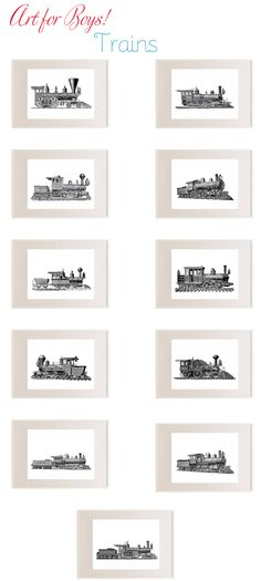 train art- my husband would love these.