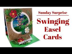FUN Swinging Easel Cards 🐒🐨🦧 Craft Stash, Interactive Cards, Easel Cards, Shadow Box, The Creator, Happy Birthday, Scrapbook, Youtube, Projects