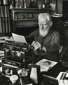 George Bernard Shaw at work, 1933, Alfred Eisenstadt.