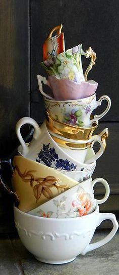 White cup ~ Tea Time Saturday Whimsy | cynthia reccord