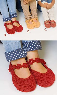 Free pattern for these Sweet Slippers!