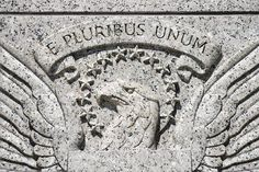 America's wonderful motto E PLURIBUS UNUM you can see it on U.S currency.