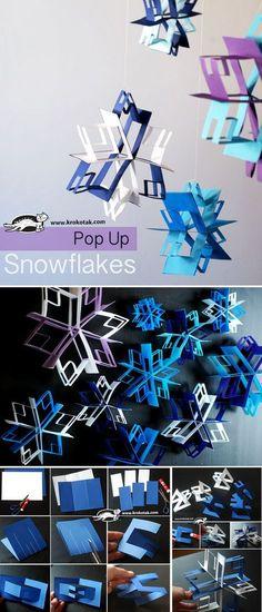 Pop Up snowflakes Más