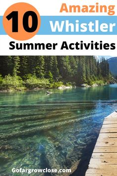 I have been to Whistler hundreds of times over the last fifteen years. Here are my 10 favourite things to do during a Whistler summer. #Whistler #BritishColumbia #Canada #travel #familytravel #summer |biking, Creekside, Whistler Village, things to do in Whistler, hiking, Nicklaus North, peak to peak gondola, Rainbow Park, swimming, tennis, Treetop Adventure, Valley Trail, golf, Whistler Blackcomb, white water rafting, family vacation, travel with kids, travel tips, budget travel, travel…