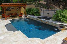 Geometric Pool Designs by Cody Pools Austin, Houston and San Antonio Backyard Pool Designs, Swimming Pool Designs, Pool Landscaping, Swimming Pools, Backyard Ideas, Backyard Pools, Outdoor Ideas, Country Pool, Roman Pool