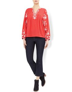 Melina Embroidered Top