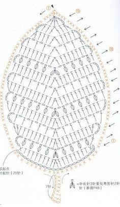 Trendy Ideas For Crochet Flowers Keychain Crochet Leaf Patterns, Crochet Leaves, Crochet Diagram, Freeform Crochet, Crochet Chart, Crochet Motif, Diy Crochet, Crochet Designs, Crochet Doilies