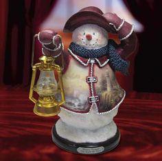 Light of Peace Snowman ~ Thomas Kincaid