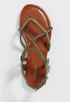 Adalie braided strap sandal (original price, $24.00) available at #Maurices