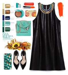 """Zara Dress"" by grozdana-valkaj ❤ liked on Polyvore featuring Zara, Stella & Dot, Sigma Beauty, Casetify, Tiffany & Co., Guerlain, Essie, Nesti Dante and NARS Cosmetics"