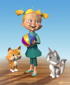 JIM TALBOT Fluffy Cat, Cute Characters, Talbots, Art For Kids, Character Design, Cats, Drawings, Artist, Fun