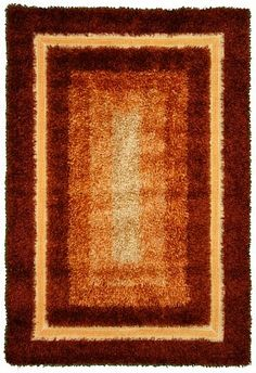 5' 0 x 7' 3 Orange Shag Area Rug.. kind of diggin the 1970s look of this!
