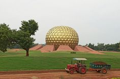 Life of Pi locations in Pondicherry, India: The Matrimandir (Sanskrit for Temple of The Mother) Auroville. Photo by devaiah pa
