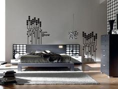 56 Wonderful and Sexy Masculine Bedroom Design Ideas : 56 Amazing Masculine Bedroom Design With Grey Wall Bed Pillow Blanket And Wooden Side Table Chandelier Bedroom Color Schemes, Bedroom Colors, Bedroom Decor, Bedroom Ideas, Design Bedroom, Bedroom Furniture, Modern Furniture, Elegant Home Decor, Elegant Homes