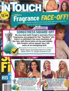 It's a fragrance face-off! @intouchweekly names Outspoken Fresh by Fergie a winner!
