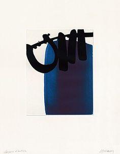 """""""Eau- forte XXI"""" by Pierre Soulages, 1972, 47 x 37 cm"""