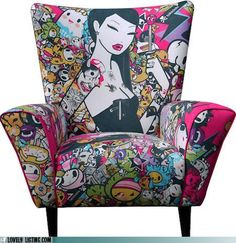 Limited Edition Tokidoki Singapore Wingback chair #design #art #decor