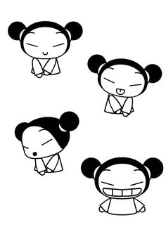Pucca coloring pages printable games Emo Tattoos, Cartoon Tattoos, Hello Kitty Tattoos, Anime Toon, Chibi, Cartoon Books, Cartoon Sketches, 90s Cartoons, Cute Characters