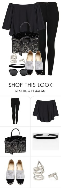 """""""Style #10230"""" by vany-alvarado ❤ liked on Polyvore featuring Topshop, Rebecca Taylor, Yves Saint Laurent, Chanel and Forever 21"""