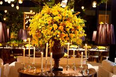 Decoração de Casamento Amarela | Peguei o Bouquet