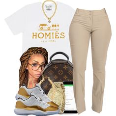 First Day Of School by polyvoreitems5 on Polyvore featuring Louis Vuitton…