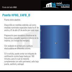 La puerta HF6G_C4FB_D es ideal para espacios al exterior en contacto con la lluvia, sol o brisa marina para mayor resistencia a la corrosión, que necesitan de completa privacidad y mayor amplitud en el vano para el flujo de personas o mobiliario y equipo de considerables dimensiones como pasillos, vestidores, bodegas, oficinas y salones a un nivel industrial, comercial o de servicios.Para mayor informcion visita nuestro blog: http://mmiopenings.com/puerta-hf6g_c4fb_d/