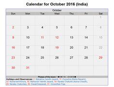 October 2016 Calendar Gujarati