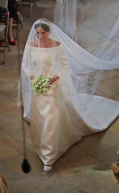 Meghan Markle walking down the aisle on her wedding day, May 19, 2018, soon to be the wife of Prince Harry.