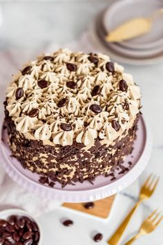 Mocha cake with juicy chocolate floors My good luckYou can find Smoothies and more on our website.Mocha cake with juicy chocolate floors M. Gourmet Recipes, Cake Recipes, Dessert Recipes, Mini Desserts, Fruit Calories, Mocha Cake, Pumpkin Seed Recipes, Paleo Cookies, Breakfast Smoothies
