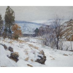 View The Hill Country by Edward Willis Redfield on artnet. Browse upcoming and past auction lots by Edward Willis Redfield. Painting Snow, Winter Painting, Winter Trees, Winter Art, Winter Light, Landscape Paintings, Landscapes, Oil Paintings, Hope Art