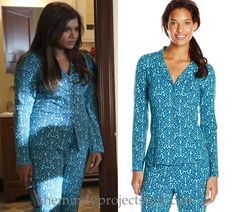 "Mindy will be wearing these cute printed pjs in ""No More Mr Noishe Guy"""