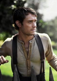 Jude Law in Cold Mountain.
