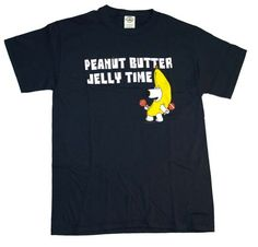 Peanut Butter Jelly Time Family Guy Brian Funny T-Shirt Tee Select Shirt Size: Large