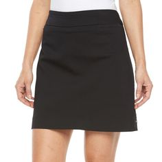 Women's Croft & Barrow Polished Twill Skort, Size: Medium, Black