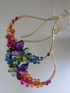 Kisses and Jewels...Blue Green Sapphire Ruby Orange Red