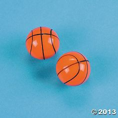 Basketball Bouncing Balls, 1 3/8 inch, $6.25/dozen at Oriental trading