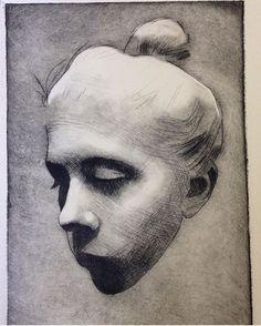 Dry point etching by Principal Instructor Britta Noresten (@brittanoresten).…