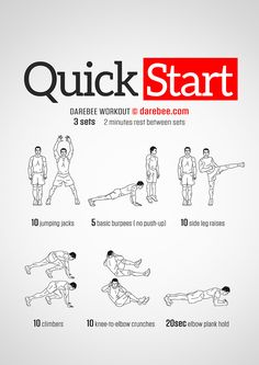 Quick Start Workout by DAREBEE #darebee #workout #fitness