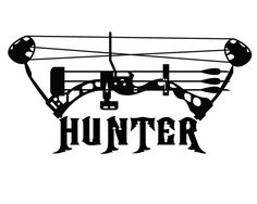 Bow Hunter Vinyl Decal - Deer Bow Hunting Sticker - Compound Bow in PINK!